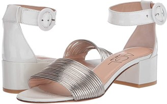 AGL Ankle Strap Sandal (Golden/White) Women's Shoes