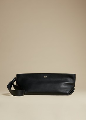 KHAITE The Alma Wristlet in Black Leather