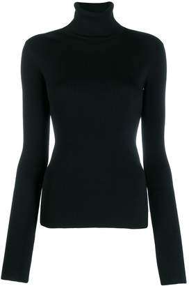 Helmut Lang knitted roll neck top