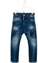 DSQUARED2 distressed slim-fit jeans - kids - Cotton/Spandex/Elastane - 8 yrs