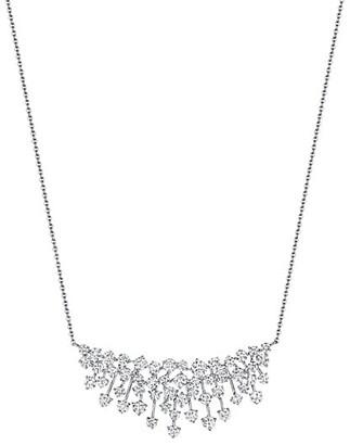 Hueb Luminus 18K White Gold & Diamond Cluster Pendant Necklace