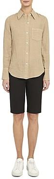 Theory Linen Button-Up Shirt