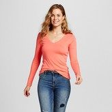 Merona Women's Ultimate LS V Tee