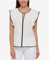 Tommy Hilfiger Flutter-Sleeve Top, Only at Macy's