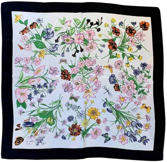 Gucci White Silk Scarves