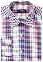 Club Room Men's Classic/Regular Fit Double Gingham Dress Shirt, Created for Macy's