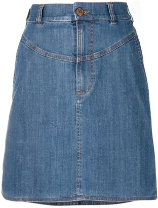 See by Chloe A-line denim skirt