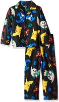 Pokemon Big Boys' Catch 'Em All 2-Piece Pajama Coat Set