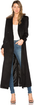 Capulet Vinnie Duster Overcoat with Faux Fur Trim