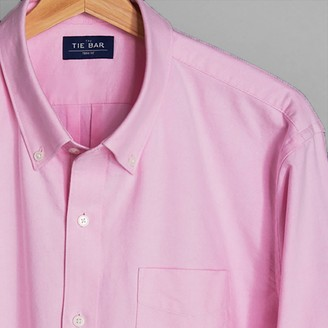 The Tie Bar The Modern-Fit Oxford Pink Shirt