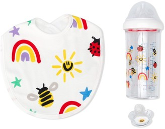 Stella McCartney Kids Graphic Print Bottle, Bib And Dummy Set
