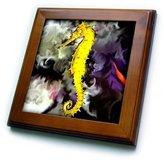 3dRose LLC ft_956_1 Sea Horse - Sea Horse - Framed Tiles