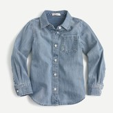 J.Crew Girls' 365 chambray shirt