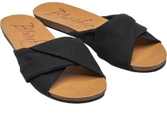 Blowfish Womens Garliss Sandals Solid Black Gaucho Canvas