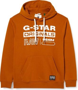 G Star Men's Originals Hooded Cardigan Sweater