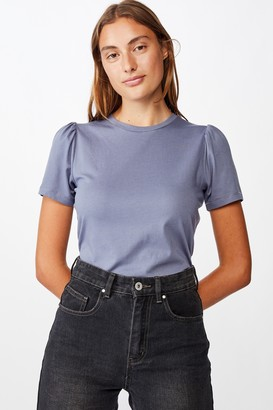 Cotton On Puff Sleeve Short Sleeve Top