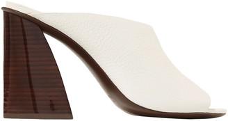 Mercedes Castillo Izar Textured-leather Mules