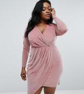Club L Plus Velvet Wrap Dress