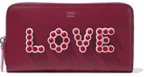 Fendi Appliqued Leather Continental Wallet