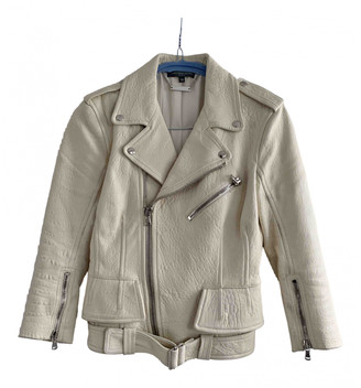 Alexander McQueen Ecru Leather Jackets