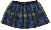 Ralph Lauren Plaid Taffeta Pull-On Skirt