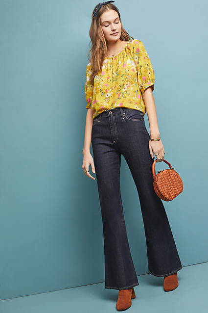 AG Jeans The Quinne High-Rise Flare Jeans