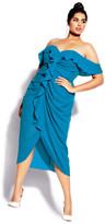 City Chic Va Va Voom Dress - blue