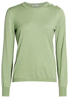 Max Mara Caraibi Silk & Cashmere Button Shoulder Sweater