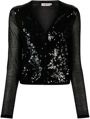 Tory Burch Embellished Button-Down Cardigan