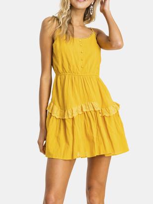 Lush Eyelet Ruffle Mini Dress