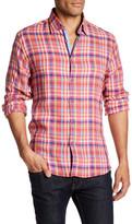 Stone Rose Linen Plaid Dress Shirt