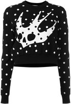 McQ by Alexander McQueen floral Swallow sweater - women - Polyamide/Viscose - S