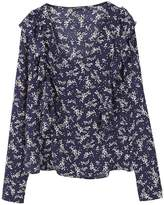 MANGO Ruffled panel blouse