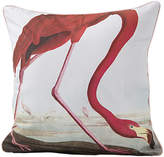 Magpie Flamingo Cushion, Pink/White