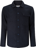 Libertine-libertine Pinnacle Boucle Overshirt Jacket, Black/asphalt