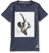 Jordan Little Boys 2T-7 Branded Tee Crew Neck Short-Sleeve Tee
