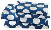 Organic New School Blue w/ White Dot Queen Sheet Set