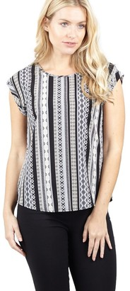 M&Co Izabel aztec stripe shell top