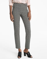 White House Black Market Body-Defining Ankle-Grazing Printed Pants