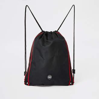 River Island Boys black RVR drawstring bag