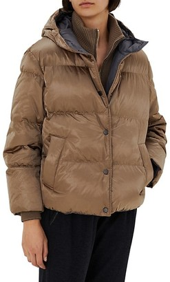 Brunello Cucinelli Metallic Down Puffer Jacket