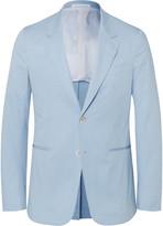 Caruso - Blue Slim-fit Stretch-cotton Suit Jacket