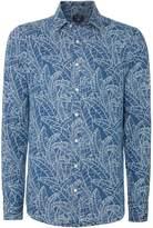 Gant Men's Fitted Leaf-Print Long-Sleeve Shirt