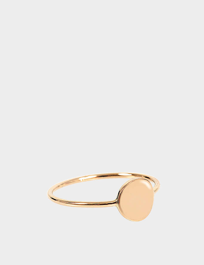 ginette_ny Mini Ever 18-karat rose gold Disc ring