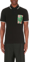McQ by Alexander McQueen Printed patch cotton polo shirt
