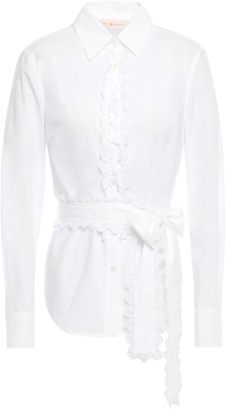 Tory Burch Scallop-trimmed Cotton-poplin Shirt