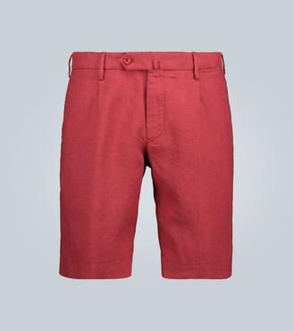 Incotex Slim-fit linen shorts