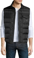Moncler Athos Quilted Down Vest, Charcoal