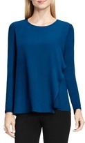 Vince Camuto Women's Asymmetrical Chiffon Overlay Top
