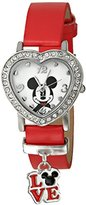Disney Kids' MCKAQ1343 Mickey Mouse Analog Display Analog Quartz Red Watch